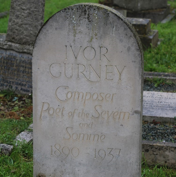 Ivor Gurney's Headstone reads Composer Poet of Severn and Somme