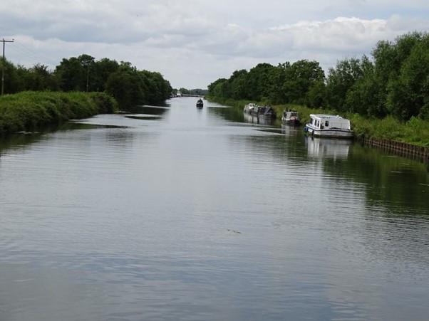 The Swing Bridge over the Gloucester-Sharpness Canal near Slimbridge in Gloucestershire