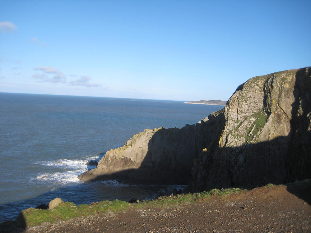 The headland overlooking Baggy Point