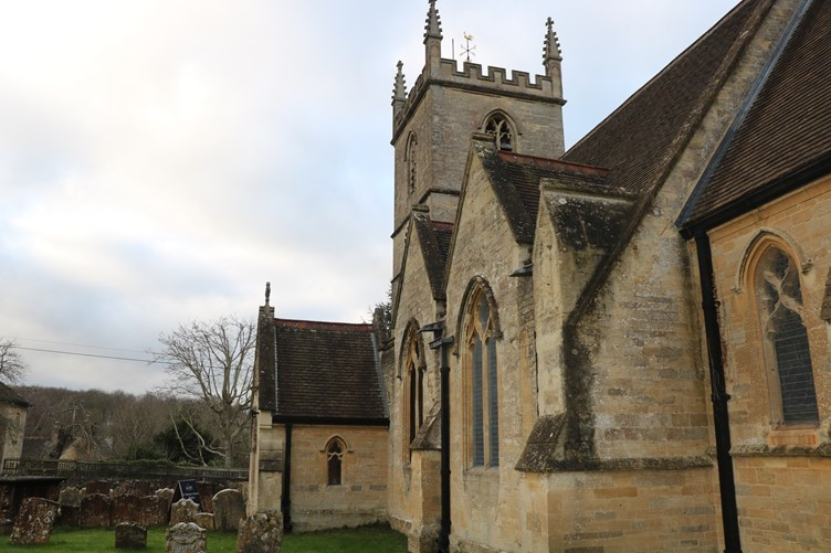 Bladon Church near Blenheim Palace in Oxfordshire