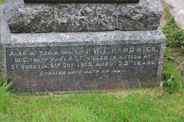 Memorial of William Emlyn Hardwick