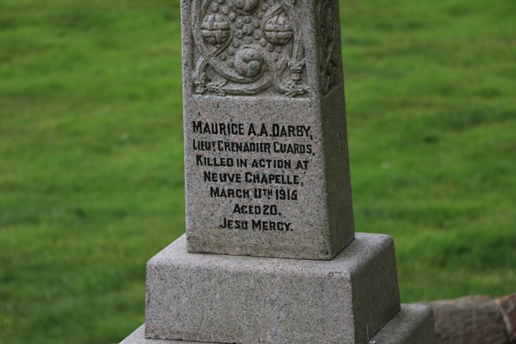 The Grave of Maurice A. A. Darby in Little Ness churchyard