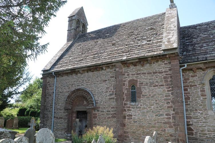 Kilpeck Church in the little rural village it serves