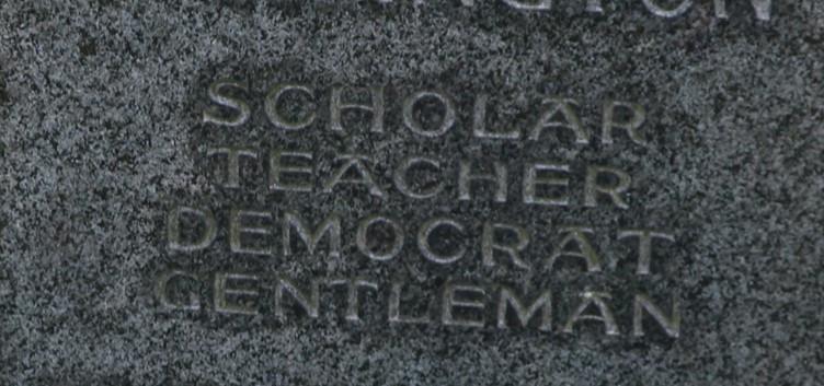 The words on Parrington's Headstone