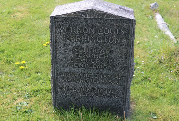 The Grave of Vernon Louis Parrington in Winchcombe Cemetery