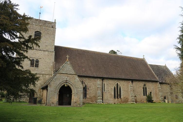 Eardisland Church in north-west Herefordshire