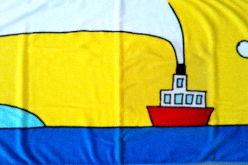 タオル 黄色い船(大サイズ)1枚
