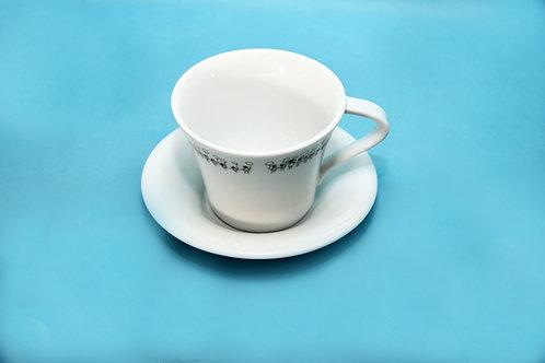 白黒食器 カップ&ソーサー
