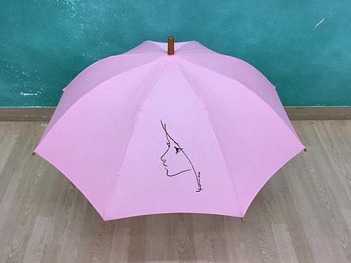 ねむの木ショップオリジナル傘-まり子 / ピンク