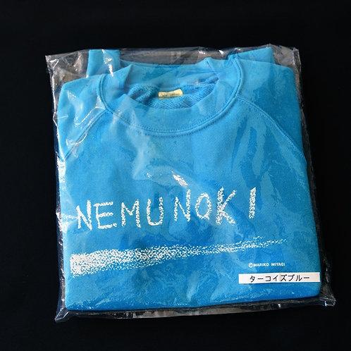 NEMUNOKIトレーナー/ターコイズブルー