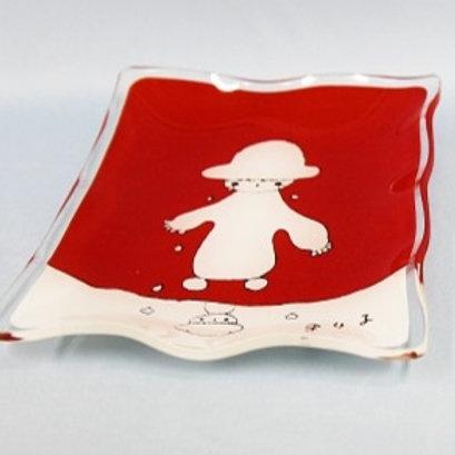 ファンシー皿雪だるまの赤ちゃん1枚/大