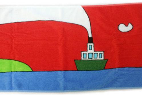 タオル 赤い船(中サイズ)1枚