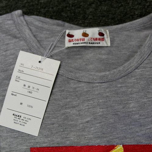 Tシャツ(長袖) 小グレー/ライオンと小鳥
