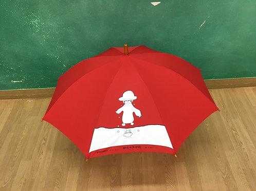 ねむの木学園オリジナル傘-雪だるまの赤ちゃん エーン エーン