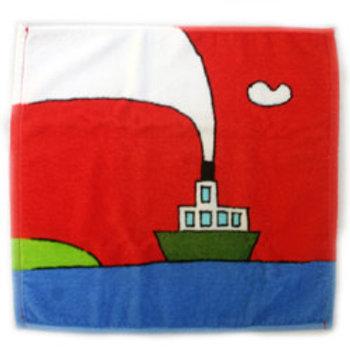 タオル 赤い船(小サイズ)1枚