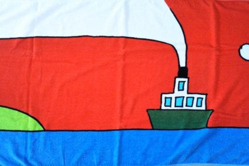 タオル 赤い船(大サイズ)1枚