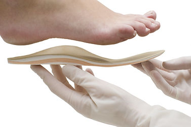 Orthopedic insoles isolated on white bac