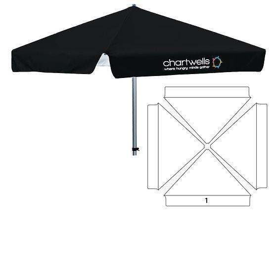 4 Sided Umbrella - Partial Print