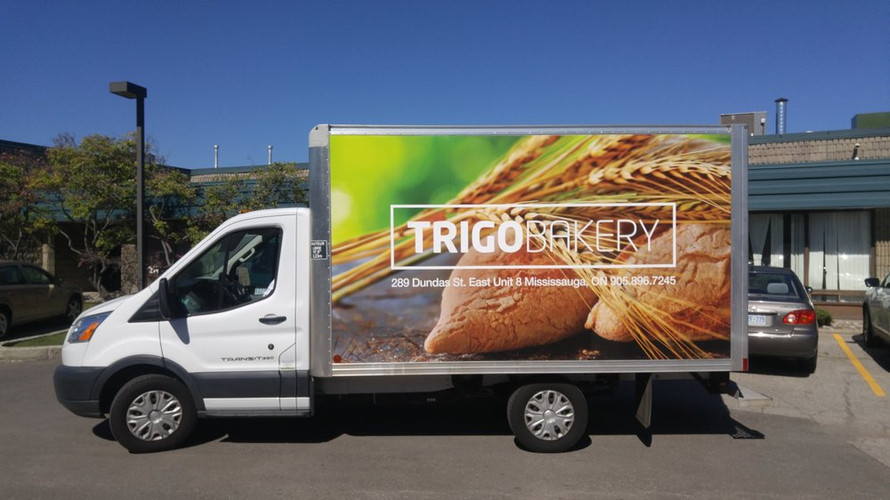 Printed Full Box Truck Wrap