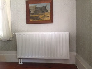 New radiators and panels installed