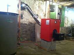 New heating system installation