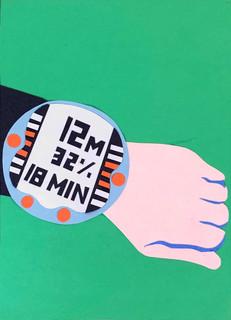 dive watch (paper collage).JPG