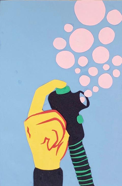 descending bubbles (paper collage).JPG