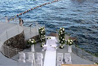 Amalfi coast, wedding by the sea.