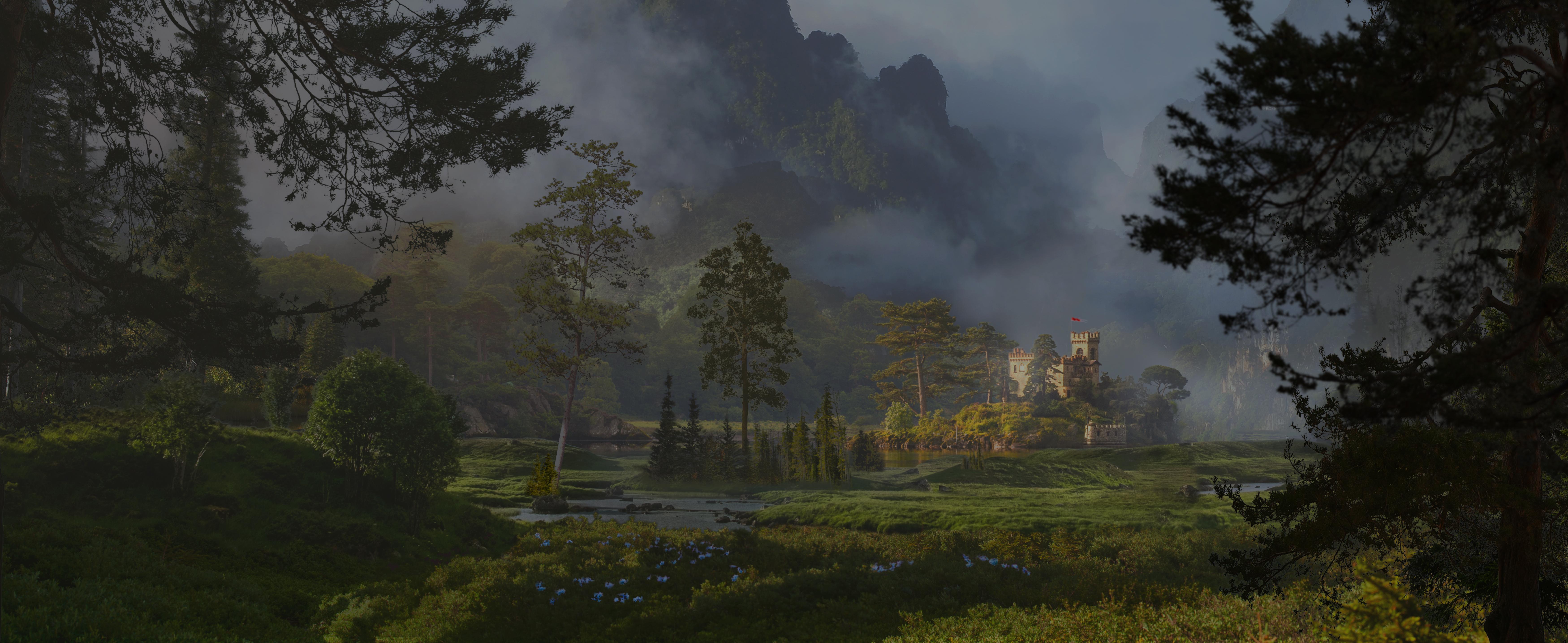 Castle lake view