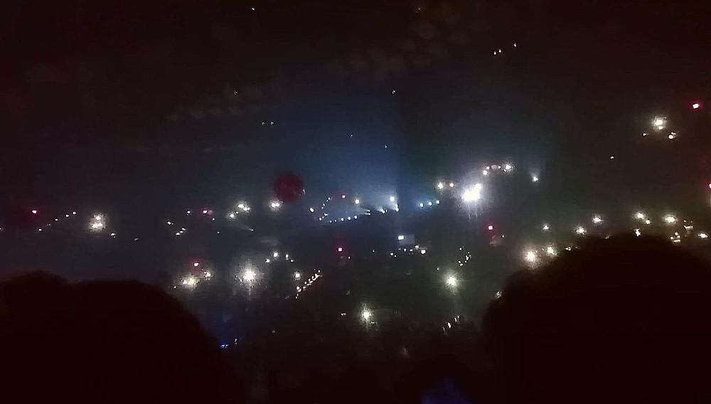 Crowd of Aerosmith gig @ The Park Theatre, Las Vegas