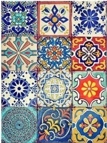 Colorful Tile decoupage papers