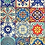 Thumbnail: Colorful Tile decoupage papers