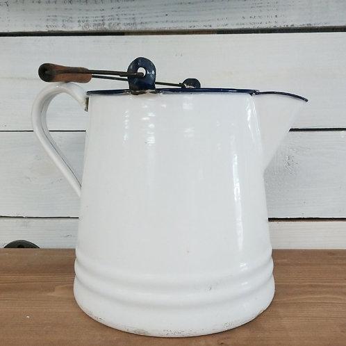 Antique Enamel Milk Pail