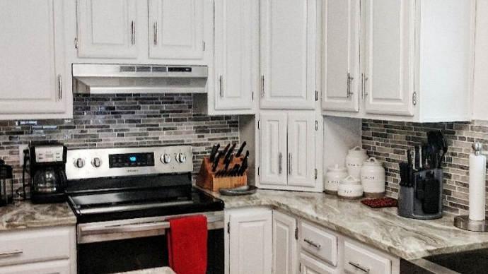 Painted Kitchen, White Kitchen,Dixie Bel