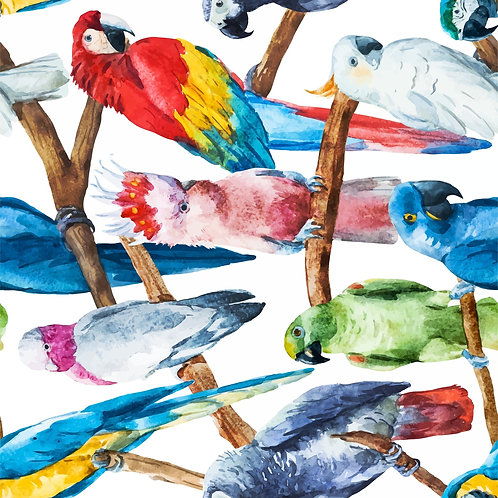 Birds decoupage paper