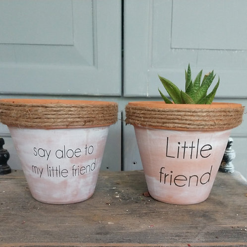 Stenciled Plant Pot Kit