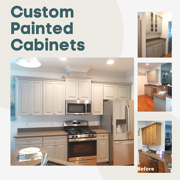Custom painted cabinets, the wooden Butt
