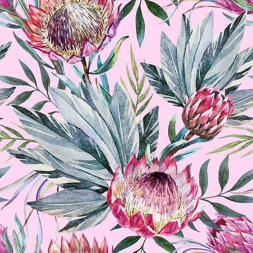Floral on pink decoupage papers