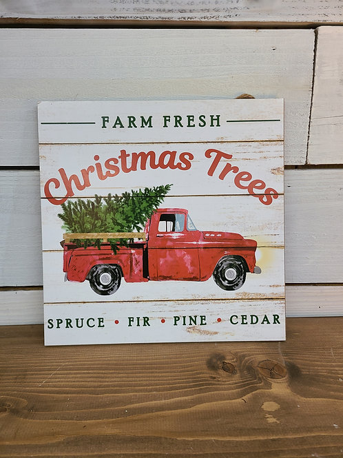Farm Fresh Christmas Sign