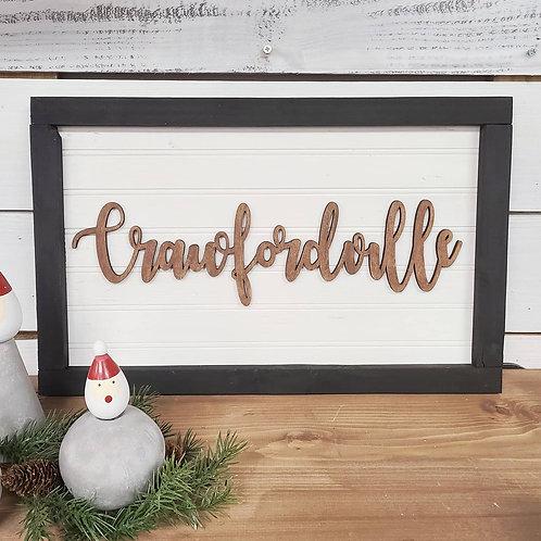 Farmhouse Crawfordville Sign