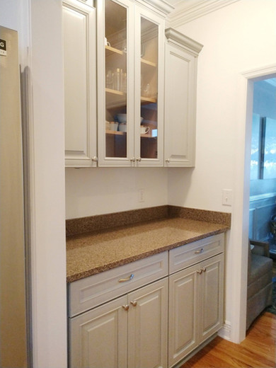 Gray Painted Butler Pantry, Tallahassee,