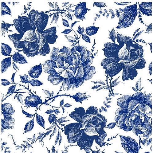 Blue Sketched Floral