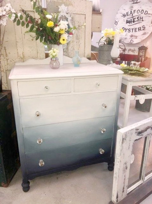 Vintage Ombre Chest of Drawers
