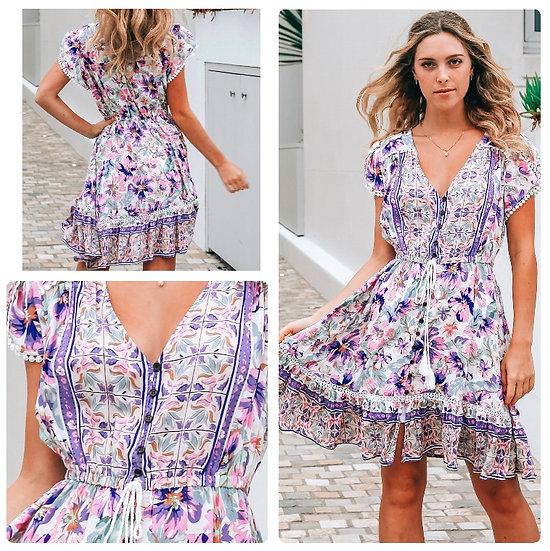 Miranda V-Neck Mini Dress!