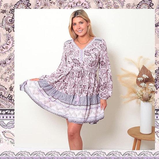 Janine Long Sleeve Mini Dress!