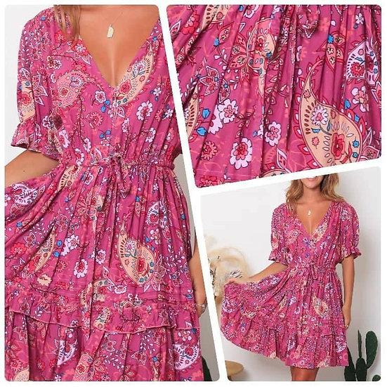 Lorelei V-Neck Mini Dress!