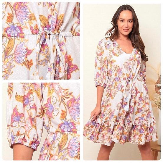 Melody 1/2 Sleeve Mini Dress!