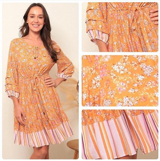 Mila 3/4 Sleeve Mini Dress!