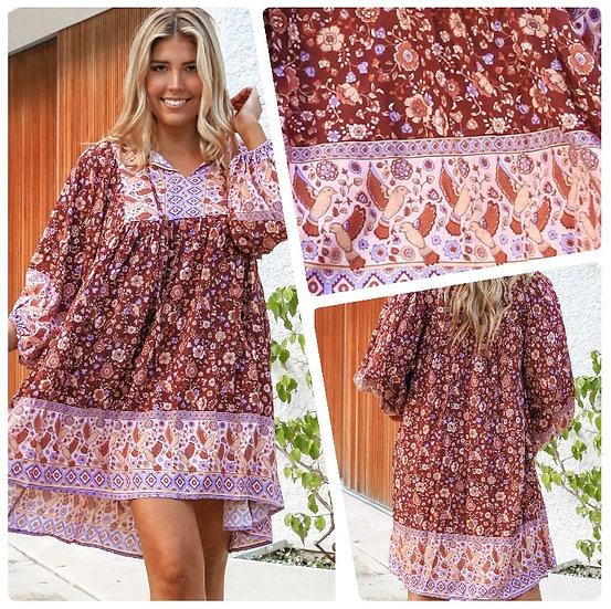 Maggie 3/4 Sleeve Mini Dress!
