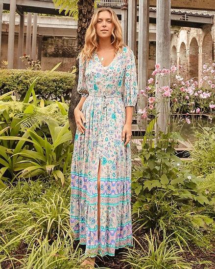 Kianna V-Neck Maxi Dress!